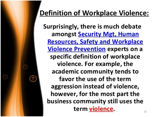 sexual abuse is an example of workplace violence