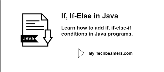 simple example of if else statement in java