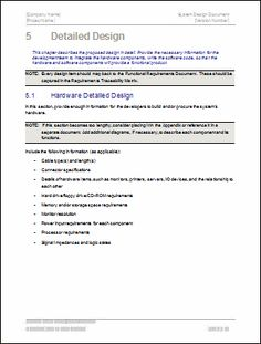 software design document example doc