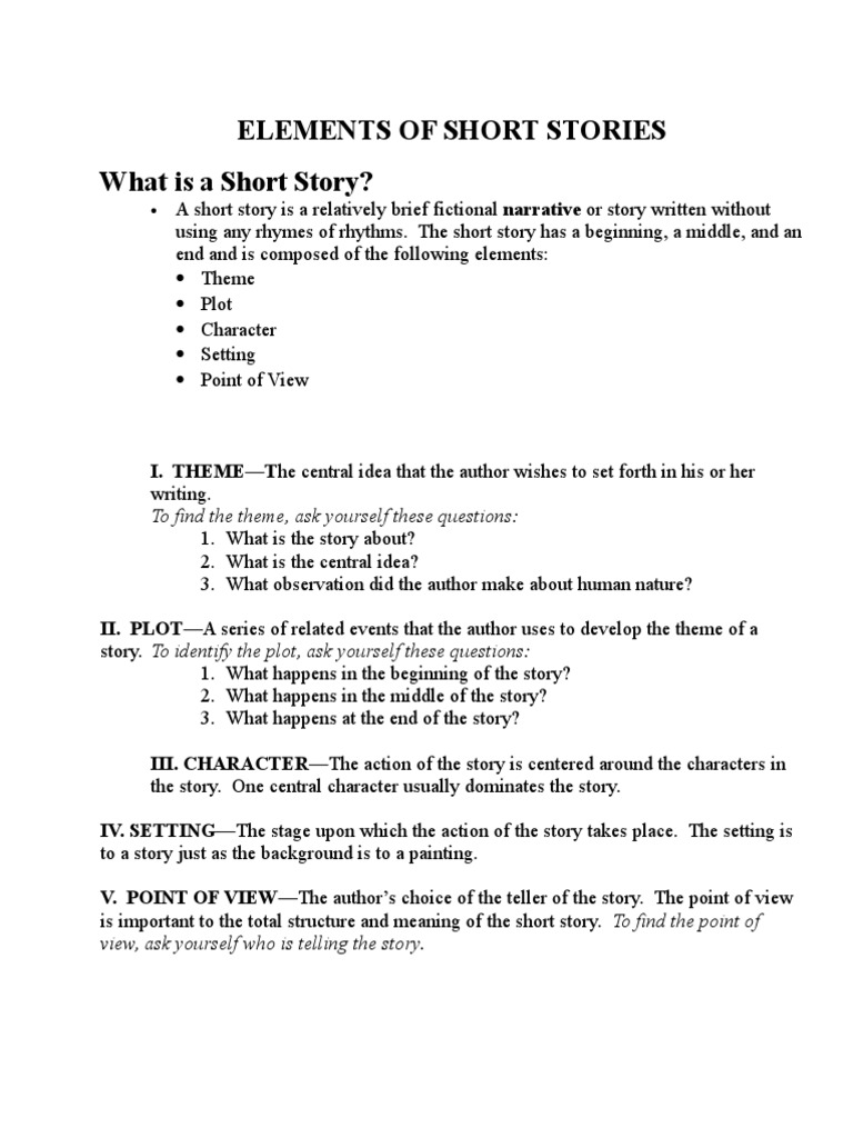 theme of a short story example